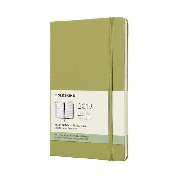 Agenda de Bolso Semanal 12 Meses Verde Musgo Capa Dura 2019