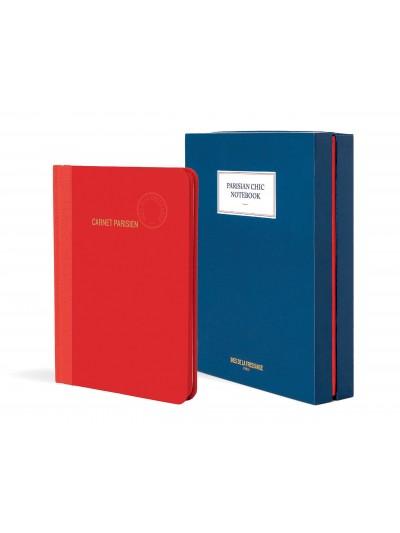 Parisian Chic Notebook - GRANDE (Vermelho)
