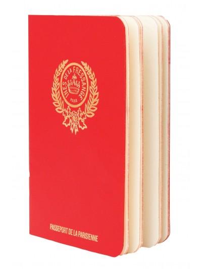 Livro Parisian Chic Passport - Vermelho